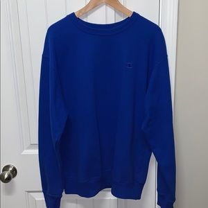 Champion sweatshirt vibrant blue size Large